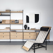 String Skříňka Cabinet with Sliding Doors, Oak - DESIGNSPOT