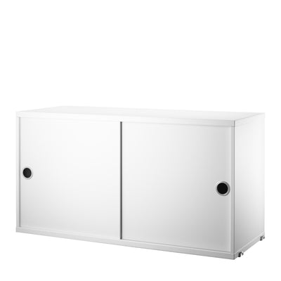 String Skříňka Cabinet with Sliding Doors, White - DESIGNSPOT