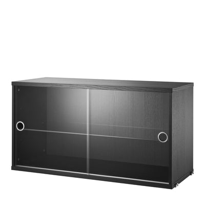 String Skříňka Display Cabinet, Black - DESIGNSPOT