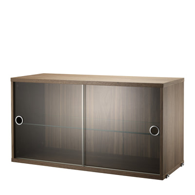 String Skříňka Display Cabinet, Walnut - DESIGNSPOT