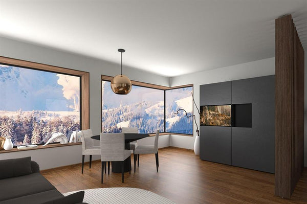 hidden kitchen for small apartment