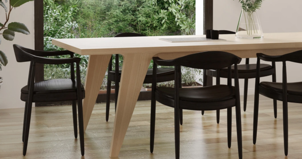 medley home wood table black chairs