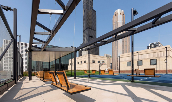 Organic Swing Featured atop Chicago's Innovative Rooftop Park