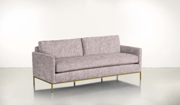 dusty rose color couch