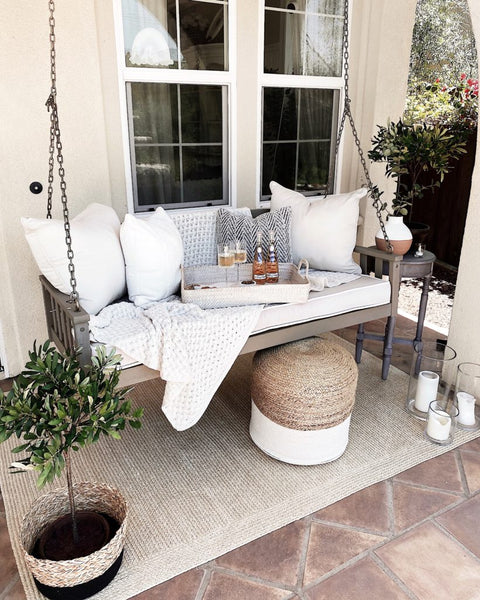 summer porch swing style