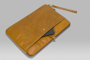 "Black Crown  - upto 17"" Folio - Light Brown 