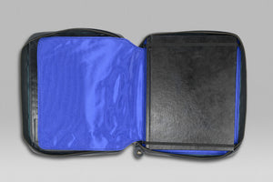 Black Crown Tablet Toolbox Folio - Black | Blue