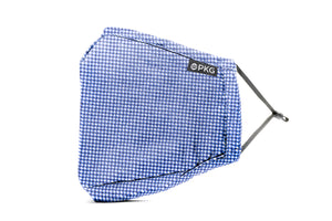 KIDS BLUE CHECKER - PERSONAL ETIQUETTE MASK (2 pack w/ 2 filters)