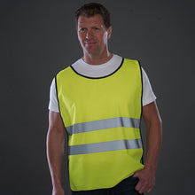 Load image into Gallery viewer, YOKO Hi-vis 2-band tabard with one colour Logo front & back