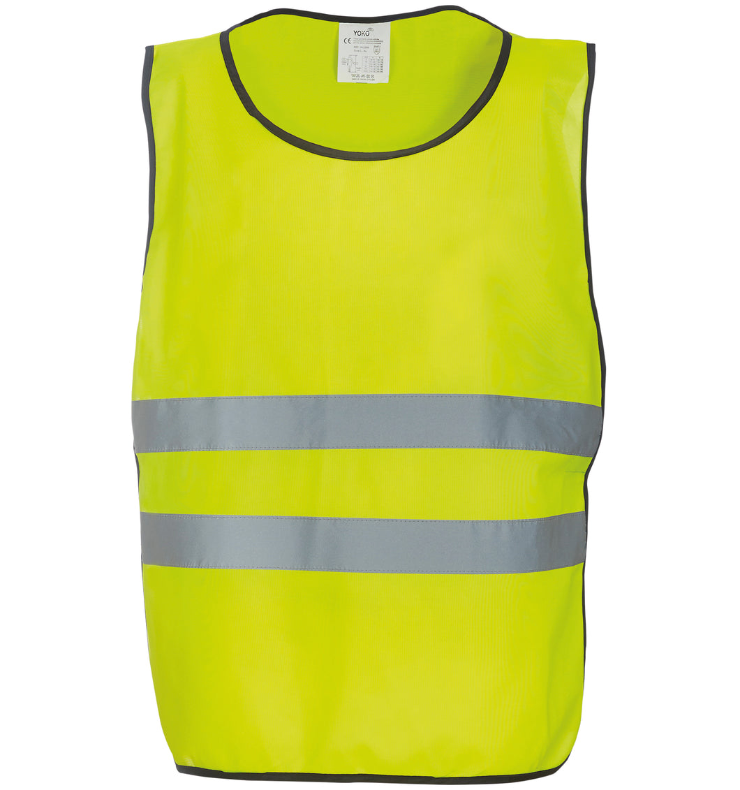 YOKO Hi-vis 2-band tabard with one colour Logo front & back