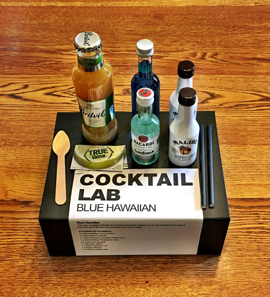 Blue Hawaiian Cocktail Kit Gift Box