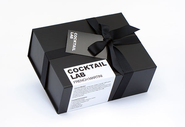 French Martini luxury black cocktail gift box