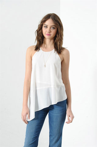 HALTER BACK ASYMMETRICAL TOP (more colors)