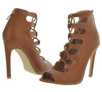 Lace-Up Gladiator Bootie - Camel- FINAL SALE
