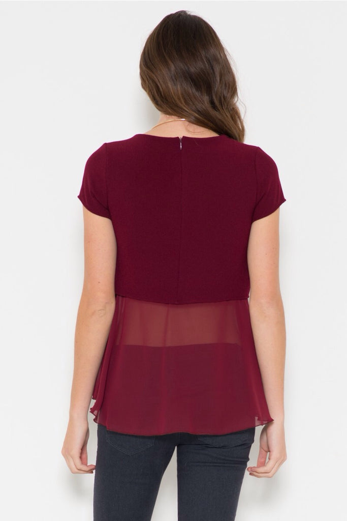 Double Crepe Chiffon Top (more colors)- FINAL SALE