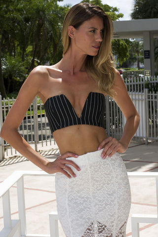 Striped V Mine Bandeau Top (more colors)