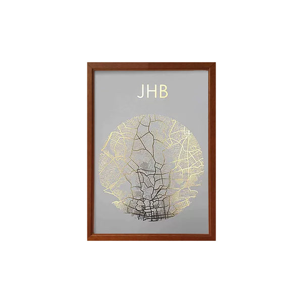 BID JHB Print Framed (City of Gold)