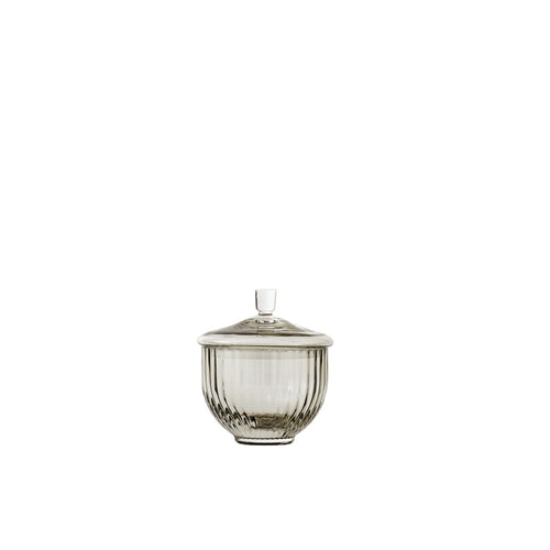 Lyngby Sugar Pot Grey Glass | S