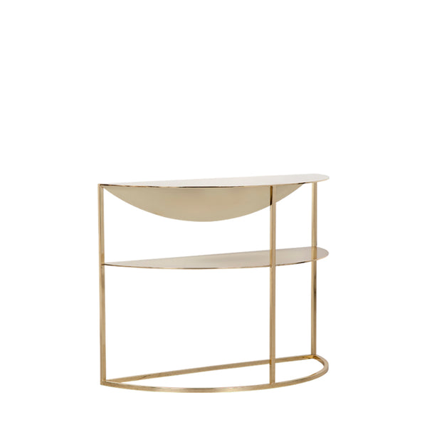 Scallop Side Table Metal