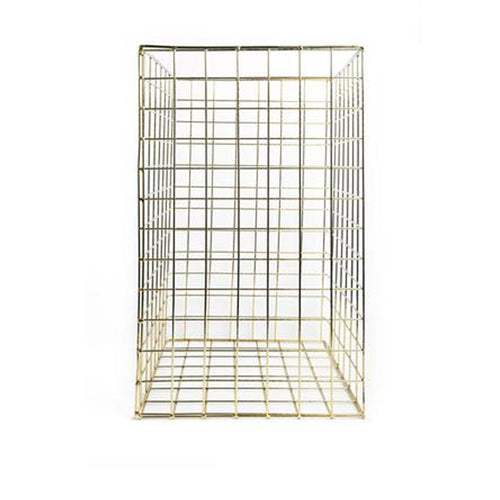 Square Basket Brass | Tall