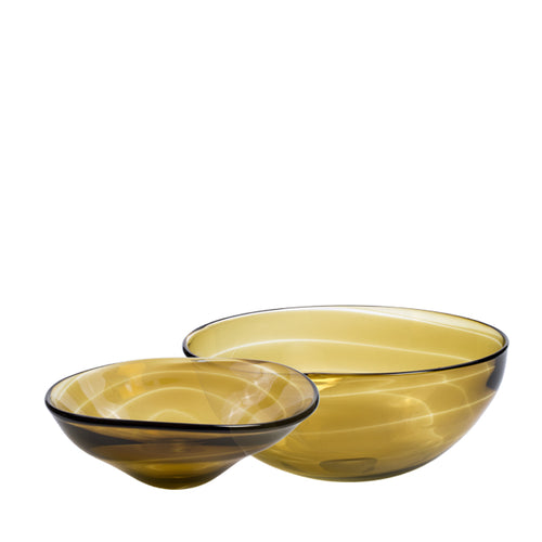 Yellow Blown Glass Bowl