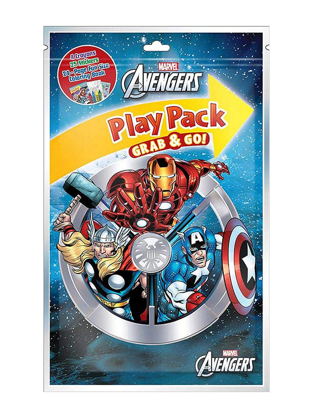 Marvel Avengers Boys Grab & Go Play Pack Party Favor 10-Pack