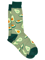 Men's Avocados Novelty Dress Socks & Breakfast Foods Socks Eggs Bacon 2-Pair Set
