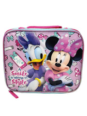 Girls Disney Minnie Mouse Insulated Lunch Bag w/ Daisy Duck 16.5oz Water Bottle