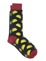Men's Pineapple Tropical Socks & All-Over Taco Novelty Food Socks 2-Pair Set