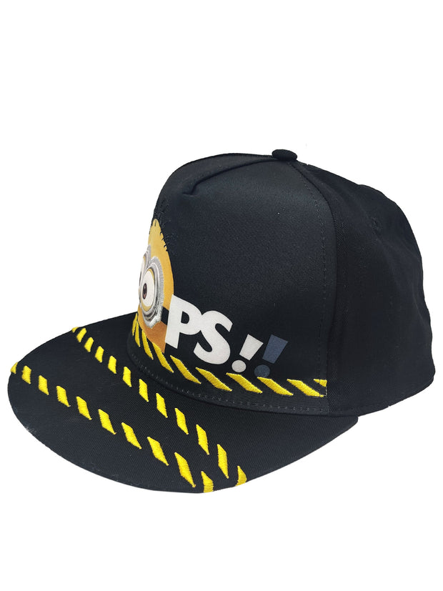 "Kids Youth Minions Despicable Me Baseball Hat Cap Black ""OOPS"""