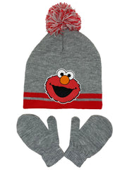 Toddler Boys Sesame Street Elmo 2-Piece Hat Beanie & Mitten Winter Set