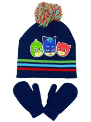 Disney Toddler Boys PJ Masks Catboy Hat Beanie & Mitten 2-Piece Winter Set