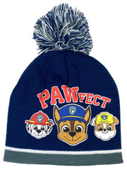 Toddler Boys Paw Patrol Chase Rubble Hat Beanie & Mitten 2-Piece Winter Set
