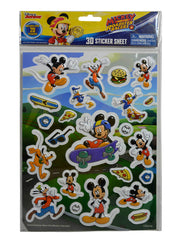 Minnie Mouse Girls Grab-N-Go Play Pack w/ Mickey Roadster 3D Raised Stickers