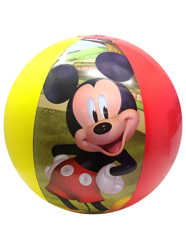 Boys Mickey Mouse Non-Woven Sling Bag Stripes w/ Mickey Inflatable Beach Ball