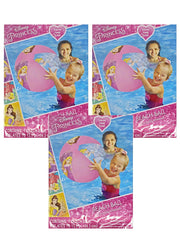 "Girls Disney Princesses Inflatable Beach Ball 13.5"" 3-PACK"