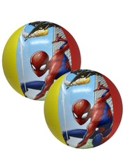 "Marvel Spider-Man Kids Inflatable Pool Beach Ball 13.5"" 2 Pack Set"
