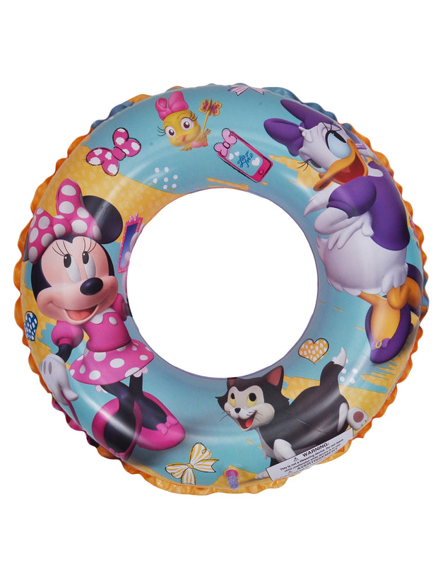 "Mickey Swim Ring 17.5"" & Minnie Mouse Daisy Swim Ring 17.5"" Pool 2Pc Set"