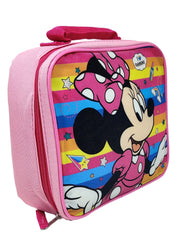 Minnie Mouse Insulated Lunch Bag I love Rainbows & 16oz Pull Top Water Bottle