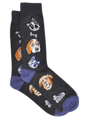 Men's Dogs & Bones Crew Dress Socks (1-PAIR)