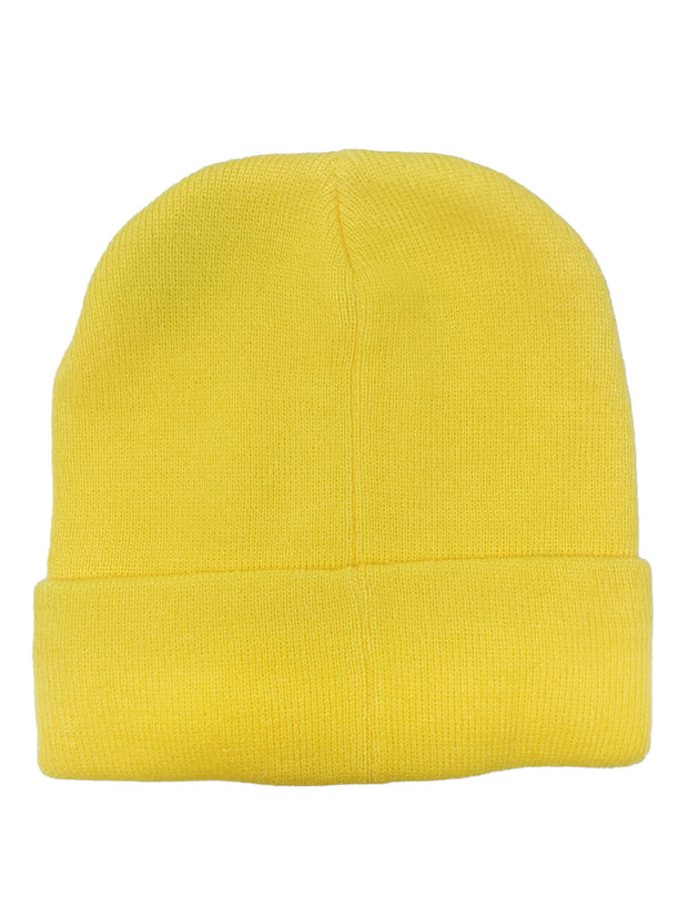 Kids Pokemon Yellow Knit Beanie Hat Cap Pokeball Trainer Master