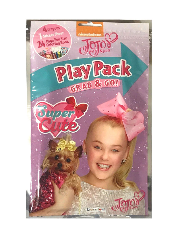 JoJo Siwa Girls Grab & Go Play Pack Party Favor 10-Pack