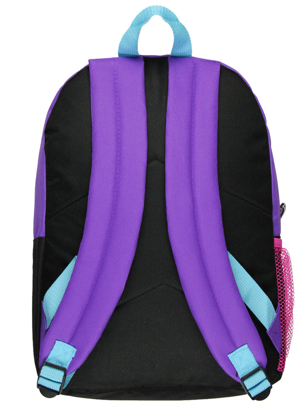 "Disney Descendants Mal Evie 16"" Backpack Make Your Move w/ 2 Front Pockets"
