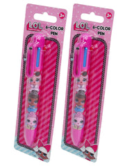 Girls LOL Surprise! Retractable Pen 6-Colors 2-Pack