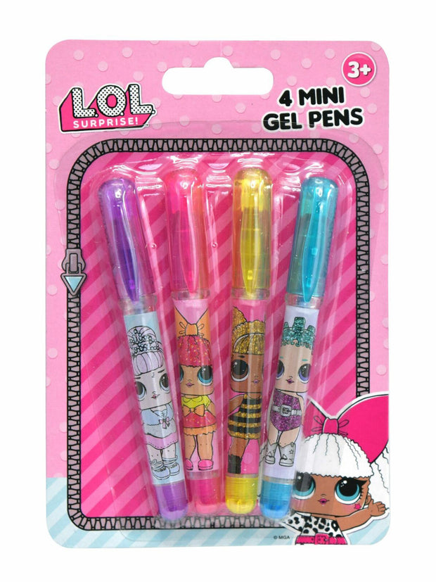 LOL Surprise! Girls Dolls Small Gel Pens 4-Pack