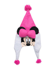 Girls Disney Minnie Mouse Christmas Santa Hat Face Ears Bow Holiday Pink