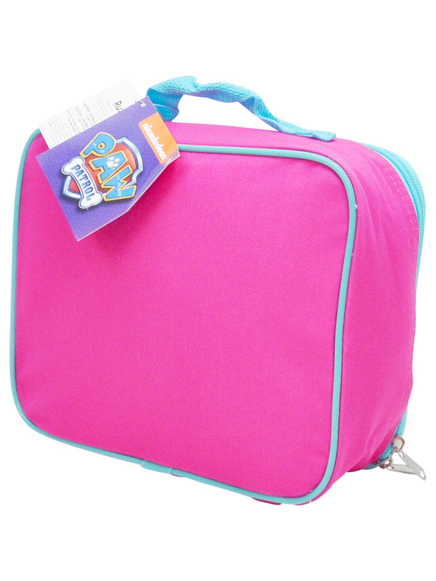 Girls Paw Patrol Skye Everest Insulated Lunch Bag Pink w/ Snack Container Set