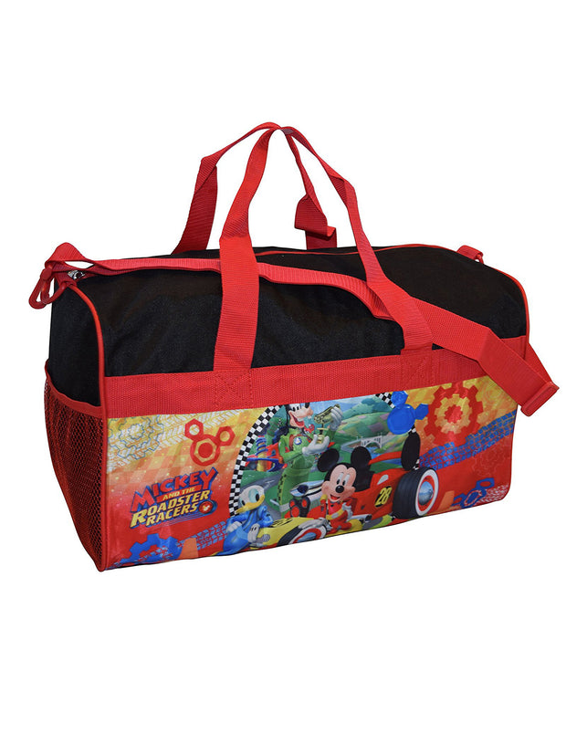 "Disney Mickey and the Roadster Racers Duffel Bag 18"" Overnight Bag"