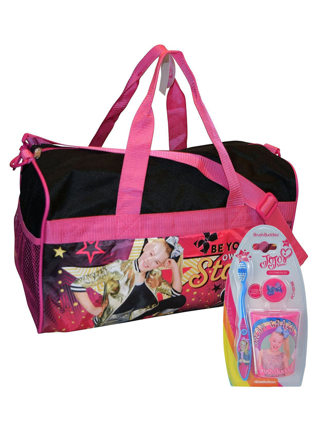 "JoJo Siwa 18"" Duffel Bag Own Star w/ Toothbrush Cup Overnight Kit"