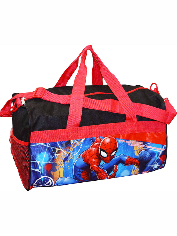 "Boys Spider-Man Duffel Bag Carry-on 18"" Black Red"